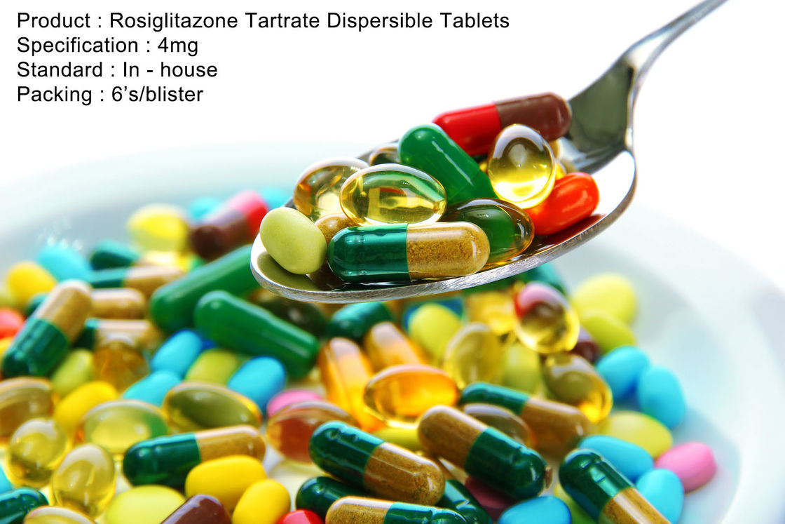 Rosiglitazone Tartrate Dispersible Tablets 4mg Oral Medications